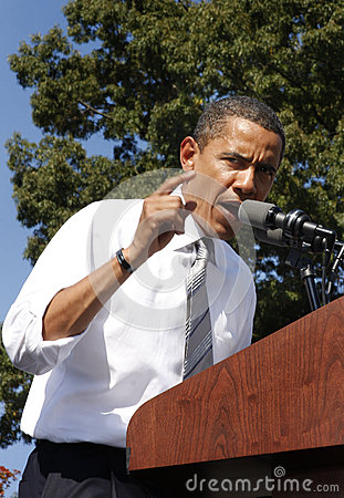President Barack Obama Redactionele Stock Afbeelding