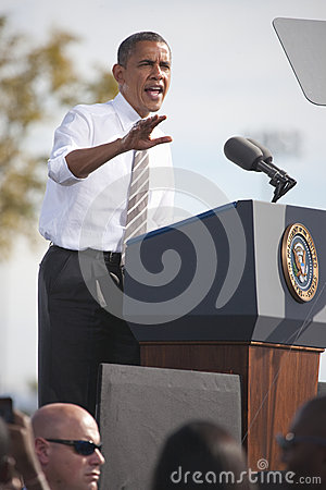 President Barack Obama Editorial Photo