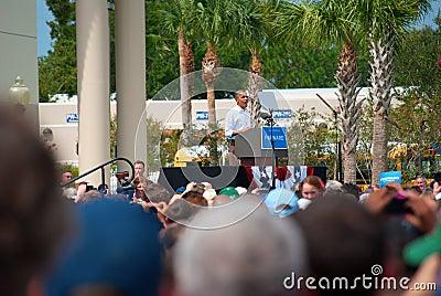 President Barack Obama September 8, 2012 Florida Editorial Image