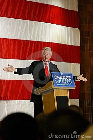President Bill Clinton Editorial Image