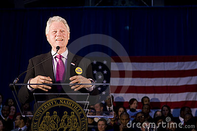 President Bill Clinton giving speech Editorial Photo