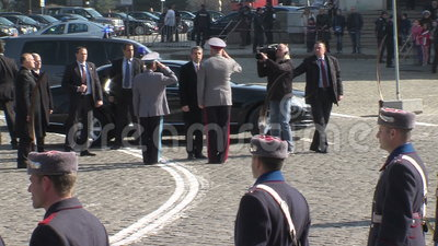 The President of Bulgaria at the parade in honor of Independence Day, Sofia stock footage