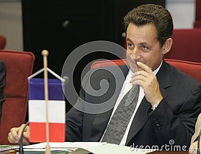 President of the French Republic Nicolas Sarkozy Editorial Stock Image