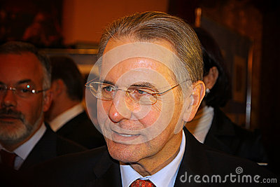 President of the IOC Jacques Rogge Editorial Image