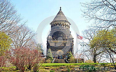 President James A Garfield memorial Stock Photo