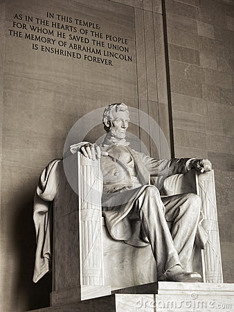 President Lincoln National Memorial Washington DC