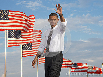 President Obama Redaktionell Arkivbild