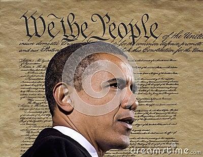 President Obama Redaktionell Fotografering för Bildbyråer