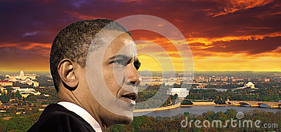President Obama Redactionele Stock Foto