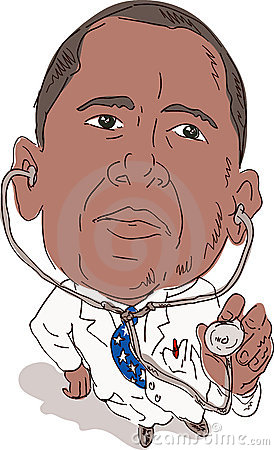 President Obama as doctor Editorial Image