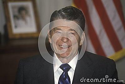 President Reagan Redaktionell Arkivbild