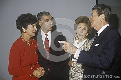 President Ronald Reagan Editorial Stock Photo
