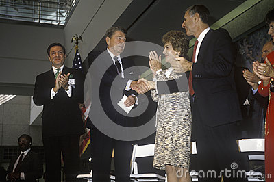 President Ronald Reagan and  Mrs. Reagan Editorial Stock Image