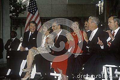 President Ronald Reagan and  Mrs. Reagan Editorial Image