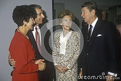 President Ronald Reagan and  Mrs. Reagan Editorial Photography