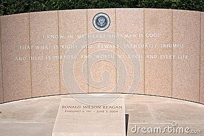 President Ronald Reagan s grave Editorial Image