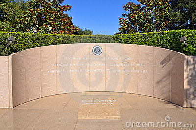 President Ronald Reagan s grave Editorial Photography