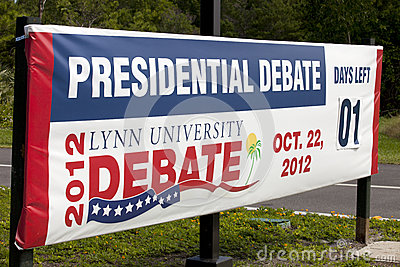 Presidental Debate Editorial Image