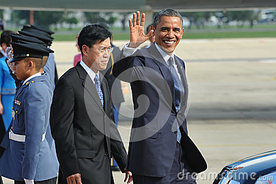 Presidente Barack Obama dos E.U. Imagem de Stock Editorial