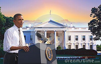 Presidente Obama Imagem de Stock Editorial