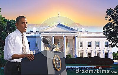 Presidente Obama Imagen de archivo editorial