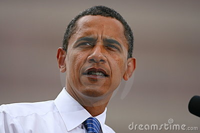 Presidential Candidate, Barack Obama Editorial Stock Photo