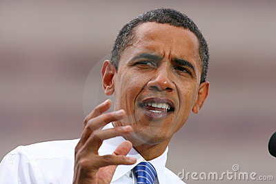 Presidential Candidate, Barack Obama Editorial Photo