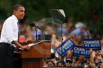 Presidential Candidate, Barack Obama Editorial Image