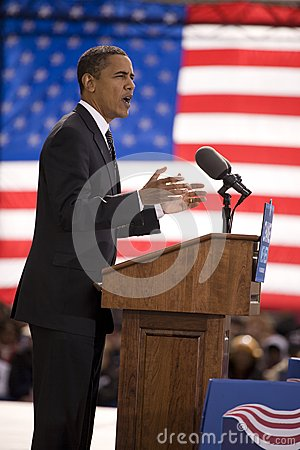 Presidential Candidate Barack Obama Editorial Stock Photo