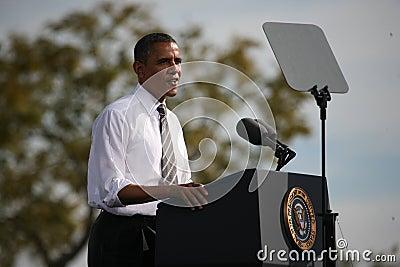 Presidential Candidate Barack Obama Editorial Stock Image