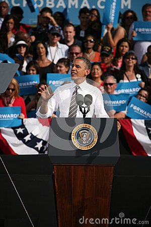 Presidential Candidate Barack Obama Editorial Photography