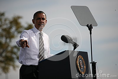 Presidential Candidate Barack Obama Editorial Image