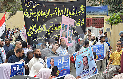 Presidential candidate supporters protesting Editorial Photography