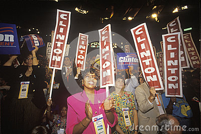 Presidential celebration at  Democratic Convention Editorial Stock Photo