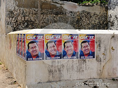 Presidential elections in Venezuela in 2012, election poster Hugo Chavez Editorial Image