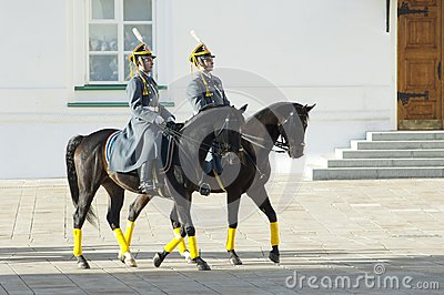 Presidential guards on a horses Editorial Stock Image