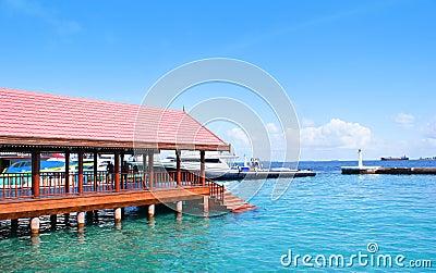 Presidential jetty in Maldives