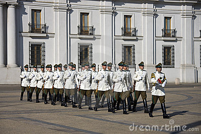 Presidential Palace in Santiago - Chile Editorial Image