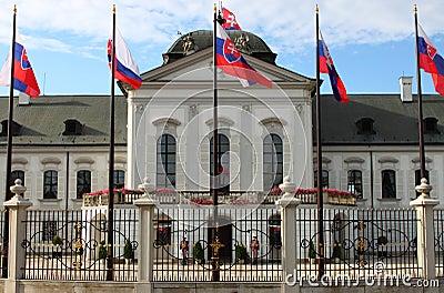 Presidential Palace of Slovakia, Bratislava Editorial Photography