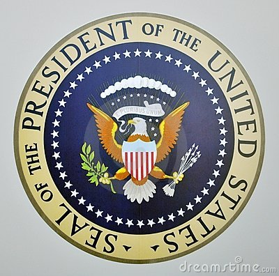 Presidential seal on Air Force One Editorial Stock Image