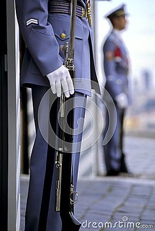 Presidential sentries- Prague, Czech Republic