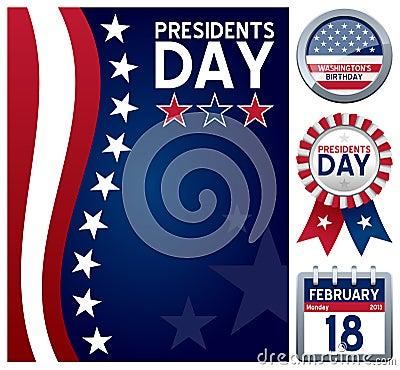 Free Presidents Day Set Stock Photo - 28125310