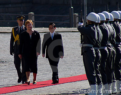 Presidents Tarja Halonen and Nguyen Minh Triet Editorial Image