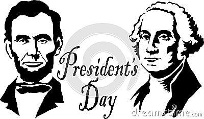Presidents Washington/Lincoln Editorial Image