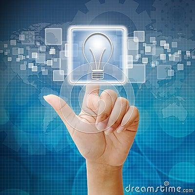In press bulb light icon