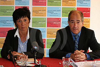 Press conference of Jacqueline Amie-Donat Editorial Photo