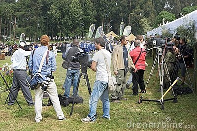 Press at the Kwita Izina Ceremony Editorial Stock Image