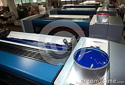 Press printing - Offset machine (detail Ink)