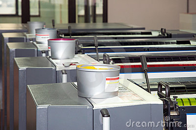 Press printing - Offset machine (detail Ink)