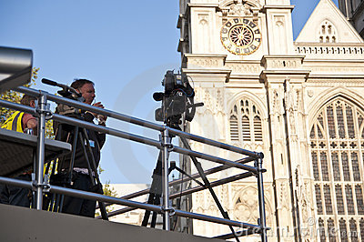 Press at Westminster Abbey Editorial Stock Image